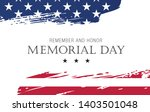 memorial day. remember and... | Shutterstock .eps vector #1403501048