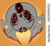 poisonous spider with bloody... | Shutterstock .eps vector #1403505452