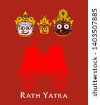 lord jagannath puri odisha god... | Shutterstock .eps vector #1403507885