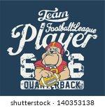 bulldog football player  ... | Shutterstock .eps vector #140353138