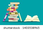 open book with an upside down... | Shutterstock .eps vector #1403538965