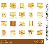 design icons including web ...