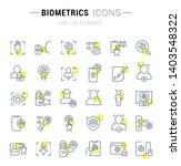 set of vector line icons and... | Shutterstock .eps vector #1403548322