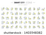 set of vector line icons and... | Shutterstock .eps vector #1403548382