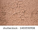 Brown Dry Soil Background At...