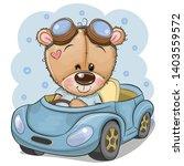 cute cartoon teddy bear in... | Shutterstock .eps vector #1403559572