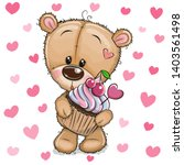 cute cartoon teddy bear with... | Shutterstock .eps vector #1403561498