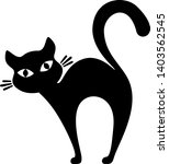 silhouette of a black cat on a... | Shutterstock .eps vector #1403562545