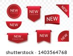 tags set. vector badges and... | Shutterstock .eps vector #1403564768