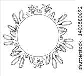 botanical elegant frames with...   Shutterstock .eps vector #1403580692