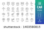 car outline icon set with basic ... | Shutterstock .eps vector #1403580815