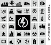 energy  electricity  power icons | Shutterstock .eps vector #140358562