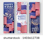 usa independence day. three... | Shutterstock .eps vector #1403612738