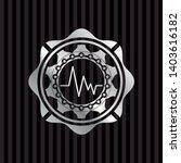 electrocardiogram icon inside... | Shutterstock .eps vector #1403616182