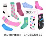 various bright socks with... | Shutterstock .eps vector #1403620532