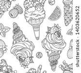 seamless ice cream pattern in...   Shutterstock .eps vector #1403620652