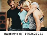 diverse group of laughing... | Shutterstock . vector #1403629232