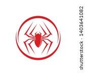 spider logo vector illustration ... | Shutterstock .eps vector #1403641082