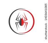 spider logo vector illustration ... | Shutterstock .eps vector #1403641085