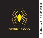 spider logo vector illustration ... | Shutterstock .eps vector #1403641088