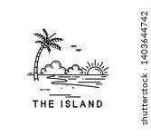 Beach On A Tropical Island ...