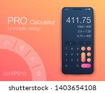 smartphone with calculator. ui...