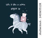 cute cartoon animal zebra with...   Shutterstock .eps vector #1403655128