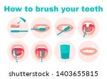 how to brush your teeth step by ... | Shutterstock . vector #1403655815