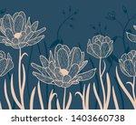 horizontal seamless botanical...   Shutterstock .eps vector #1403660738