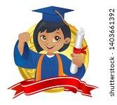 african american kindergarten... | Shutterstock .eps vector #1403661392
