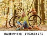 musical pause. blonde enjoy... | Shutterstock . vector #1403686172