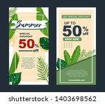 summer sale banner with... | Shutterstock .eps vector #1403698562