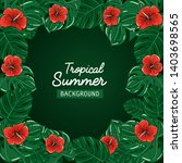promotional tropical summer... | Shutterstock .eps vector #1403698565