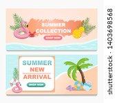 promotion summer sale banner... | Shutterstock .eps vector #1403698568