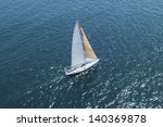 elevated view of a sailboat at... | Shutterstock . vector #140369878