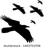 vector silhouettes flying... | Shutterstock .eps vector #1403701958