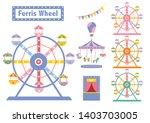 set of ferris wheel colorful...   Shutterstock .eps vector #1403703005