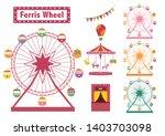 set of ferris wheel colorful...   Shutterstock .eps vector #1403703098