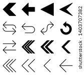 arrow icon set. vector logo... | Shutterstock .eps vector #1403707382
