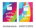 rainbow vector happy pride day... | Shutterstock .eps vector #1403713592