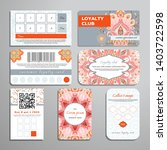 set of loyalty cards. oriental... | Shutterstock .eps vector #1403722598