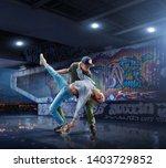 Hip Hop Dancers Beautiful Couple - Fine Art prints