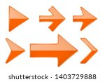 orange arrows. shiny 3d glass... | Shutterstock . vector #1403729888
