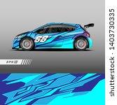 car decal wrap design vector....   Shutterstock .eps vector #1403730335