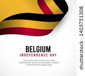 belgium independence day vector ...   Shutterstock .eps vector #1403751308