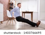 happy young businessman doing...   Shutterstock . vector #1403766695