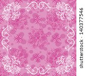 pink holiday background with... | Shutterstock . vector #140377546