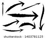 set of different grunge brush... | Shutterstock .eps vector #1403781125