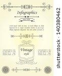 infographics vintage style. | Shutterstock .eps vector #140380462