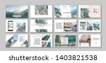 business presentation template. ... | Shutterstock .eps vector #1403821538